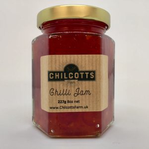 Chilli Jam For Sale made from chillies grown on our Smallholding at Chilcotts Farm