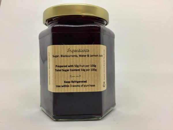Blackcurrant Jam Made in Devon with Local Fruit