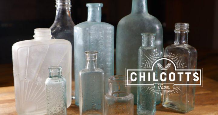 Antique bottles dug up on a Victorian Farm in North Devon
